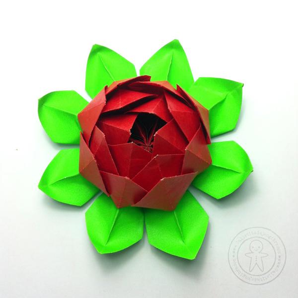 Como Hacer Una Flor De Loto De Papel Galletita De Jengibre