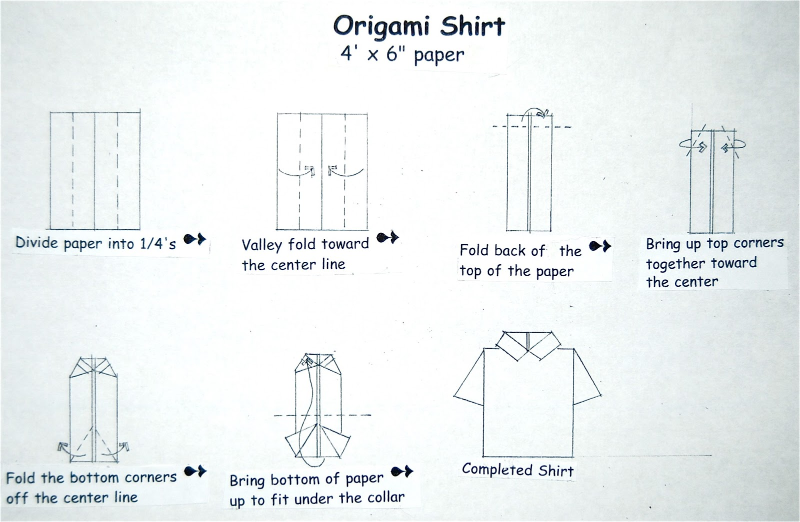 Manualidad Fiestas Patrias Camisa Origami Galletita De Jengibre