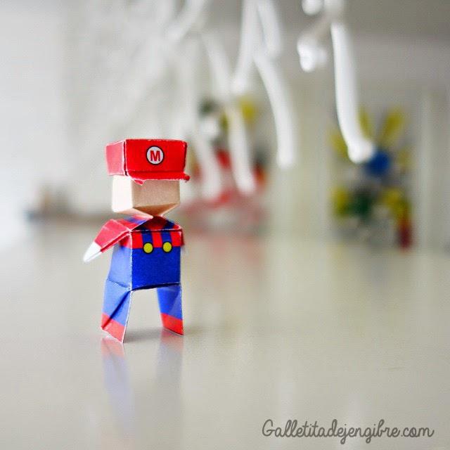 Mario Bros Origami Galletita De Jengibre