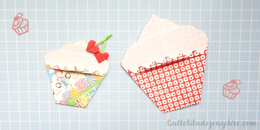 Cmo Hacer Un Cupcake De Origami Galletita De Jengibre