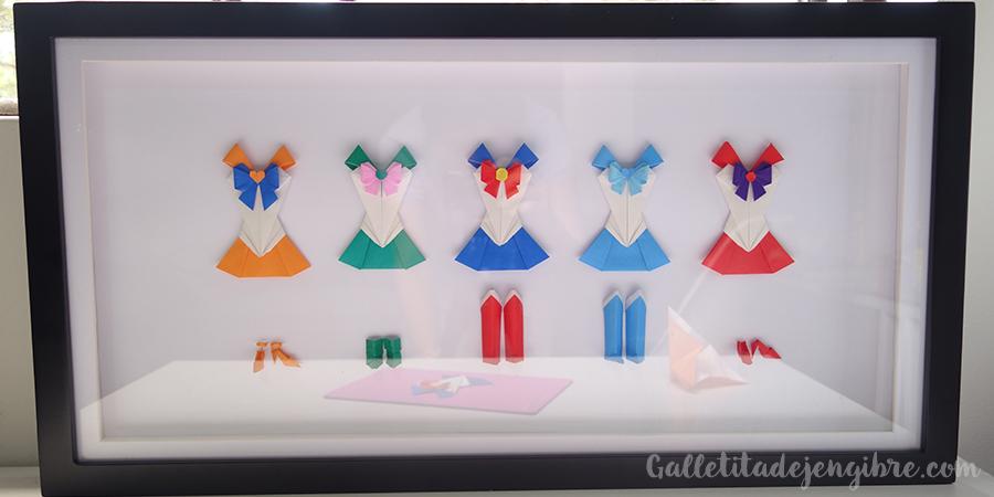 Sailor Moon Origami Vestido De Papel Galletita De Jengibre
