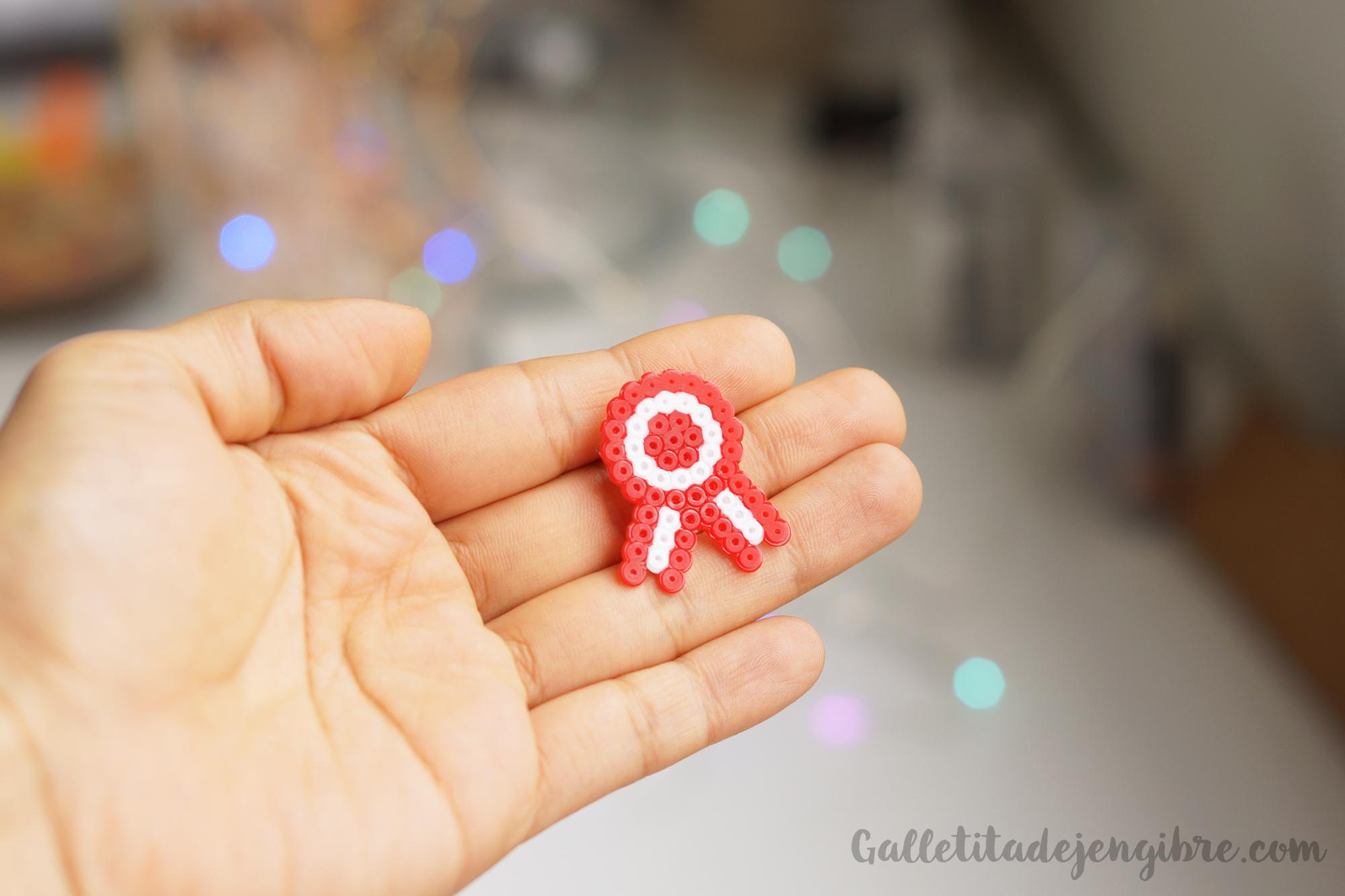 Cómo Hacer Una Escarapela Con Mini Hama Beads Galletita De Jengibre